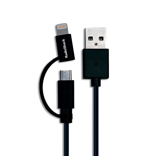 Cable 2 En 1 Lightning Y Micro Usb 3Ft Radioshack