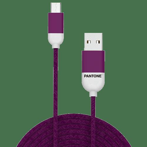 Cable micro usb a usb Pantone nylon 1.5 m morado