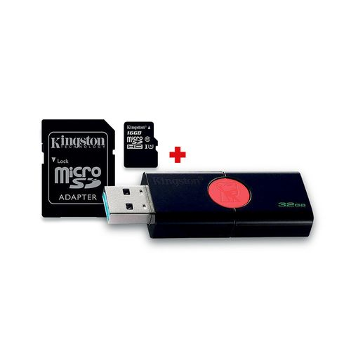 Pack Microsd16Gb + Usb 16Gb Kingston