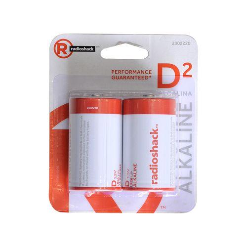Pilas alcalinas tipo D  Pack X2, perfectas para equipos de sonido portátil, electrodomésticos de uso domiciliar, entre otros