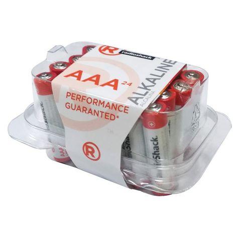 Pilas alcalinas AAA Pack  X24, larga duración