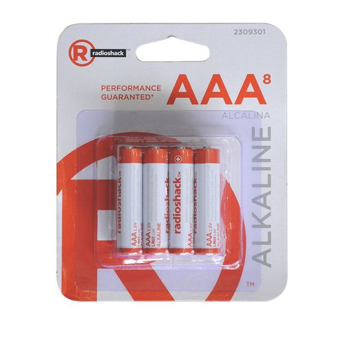 Pilas alcalinas AAA Pack X8, ideales para mouses, relojes, linternas, controles remoto, entre otros