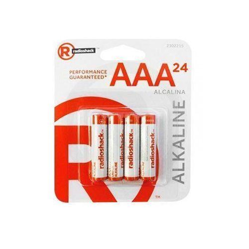 Pilas alcalinas AAA  Pack X24, larga duración, perfectas para todo tipo de electrodomésticos y dispositivos portátiles