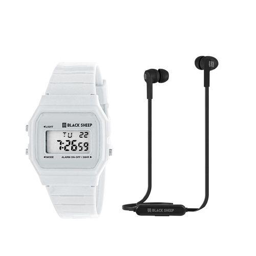 Audífono Bluetooth In Ear smoke + reloj