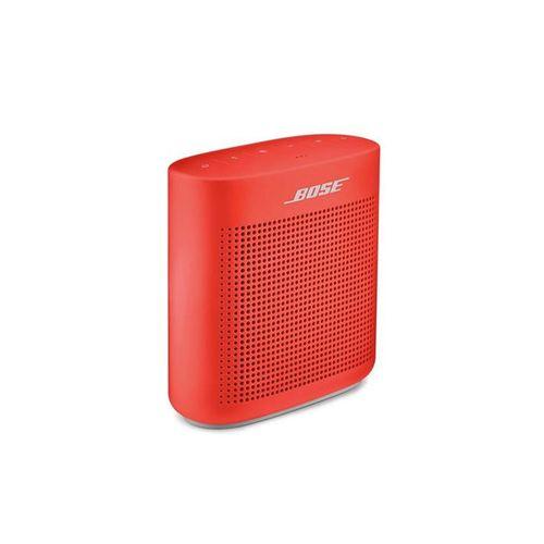 Altavoz bluetooth Soundlink Color II, resistente al agua IPX4, cuerpo de silicona suave al tacto, Rojo