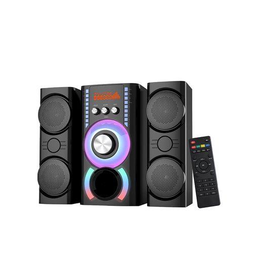 Parlante 2.1 multi media Aux/USB/FM/bt pantalla LED luces