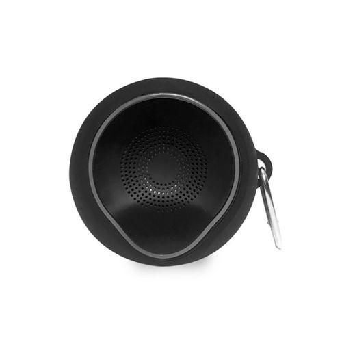 Parlante Bluetooth portátil Drip, función hands-free, MicroSD, Aux, incluye gancho, color negro