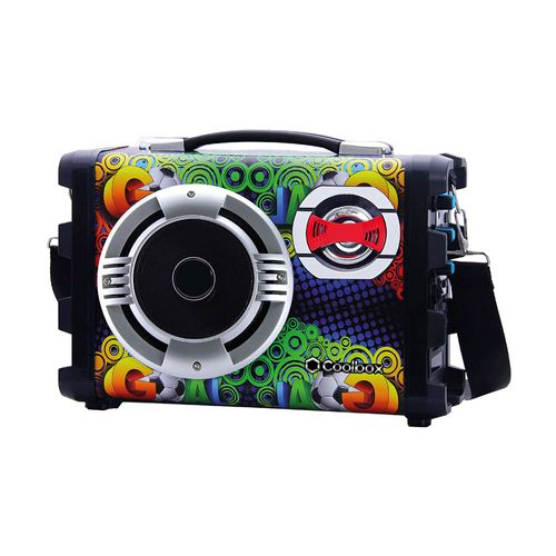 Parlante Bluetooth Karaoke con entrada de micrófono, guitarra, USB, Micro SD, función FM, batería recargable, control de Eco, incluye correa