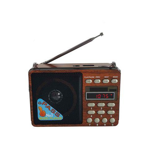 Radio portátil Verona AM/FM diseño vintage, batería recargable y a pilas, puerto USB, Micro SD, Linterna incorporada