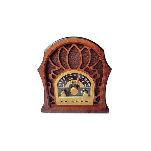 Radio Bluetooth Florencia, AM/FM, entrada USB, Aux-in, control de volumen, estación de radio y música