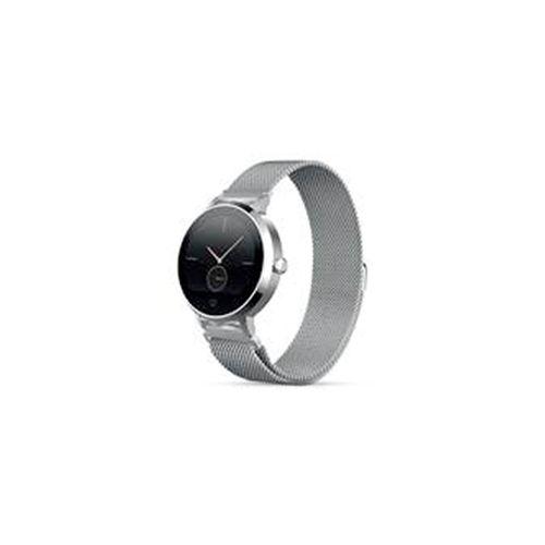 """Smartwatch Con Correa Metálica Plateada, Hasta 5 días de batería, Pantalla táctil 1.22"""" a color, Con Monitor Cardíaco"""