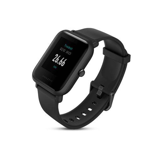 Smartwatch Amazfit Bip Lite Negro, Hasta 45 días de batería, Pantalla táctil a color con antireflejo, Modos de deporte, ligero y resistente al agua