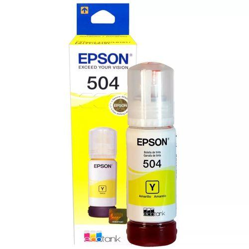 Botella de tinta Ecofit Epson T504420 Color Amarillo - Compatible con modelos L4150/L4160, capacidad 70 ml, rinde 7500 paginas