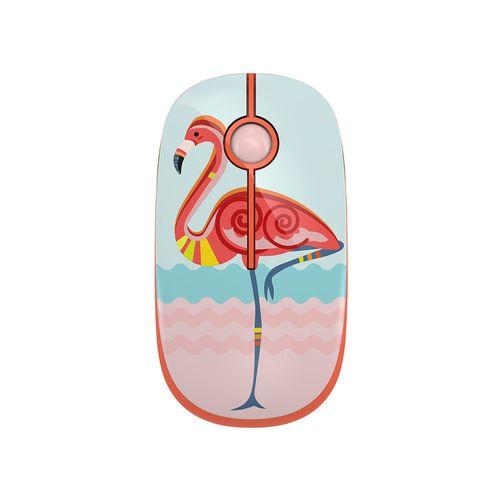 Mouse Inalámbrico Silencioso 3 Botones Diseño Flamingo 1600 DPI Teraware