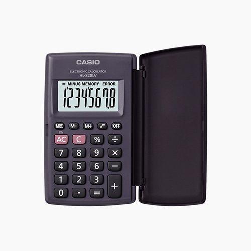 Calculadora de bolsillo con tapa Negro