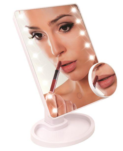 Espejo de maquillaje con luces LED