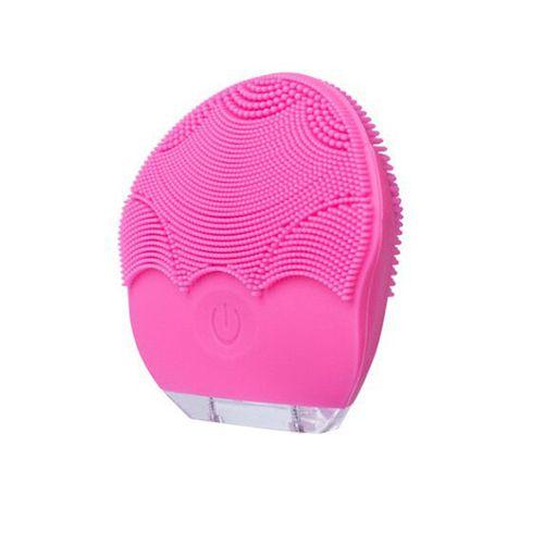 Limpiador facial de silicona rosado
