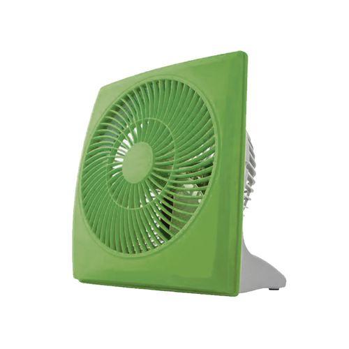 Mini Ventilador 10cm Cuadrado Verde