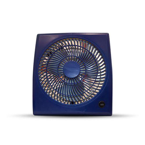 Mini Ventilador 23cm Cuadrado Azul