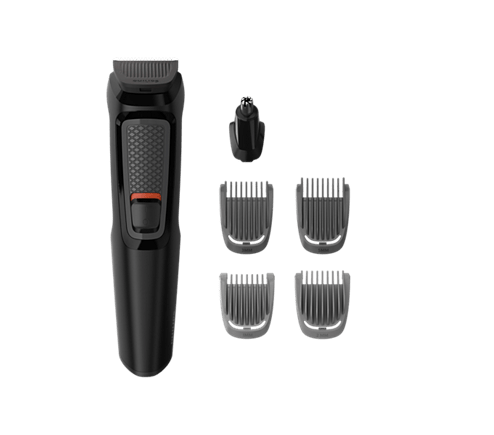 Recortador de Barba Multigroom Series 3000 Recargable, Recorta  y Modela la Barba con 6 Accesorios