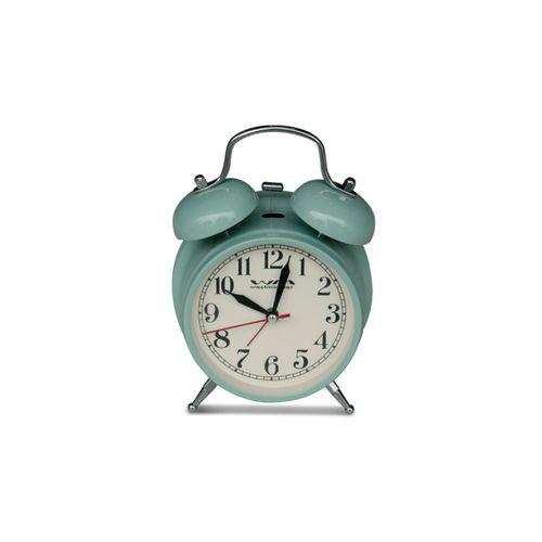 Reloj de mesa vintage con alarma verde