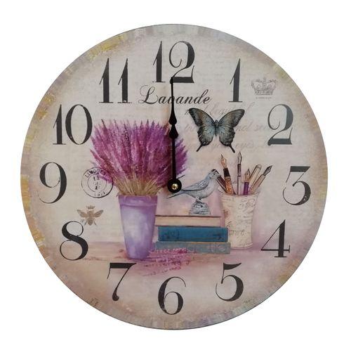 Reloj de pared mariposa