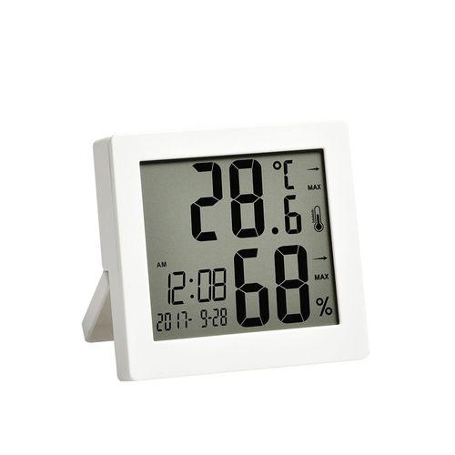 Reloj Despertador Con Temperatura Blanco