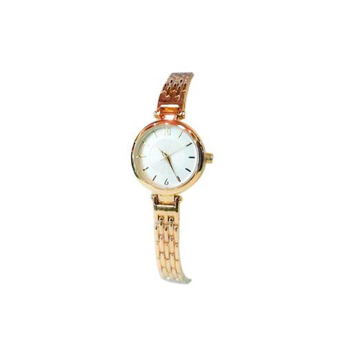 Reloj pulsera metal dorado mujer