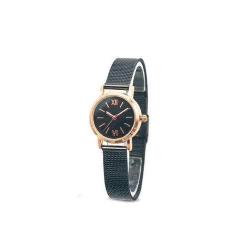 Reloj pulsera metal mesh dorado mujer