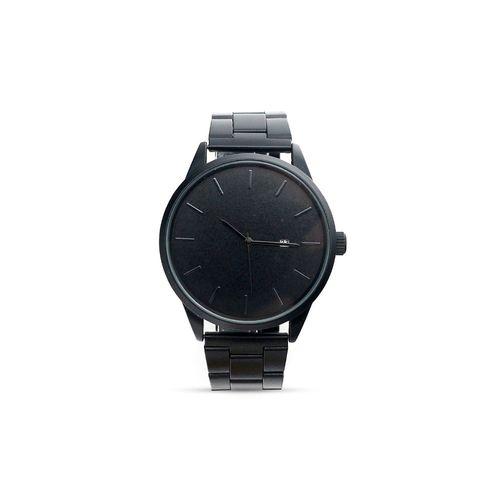 Reloj pulsera metal negro hombre