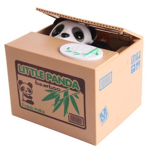 Alcancía Panda, Juguete Interactivo Para Ahorrar, El Panda Saca Una Pata y Guarda La Moneda Colocada En La Bandeja Dentro de La Alcancía