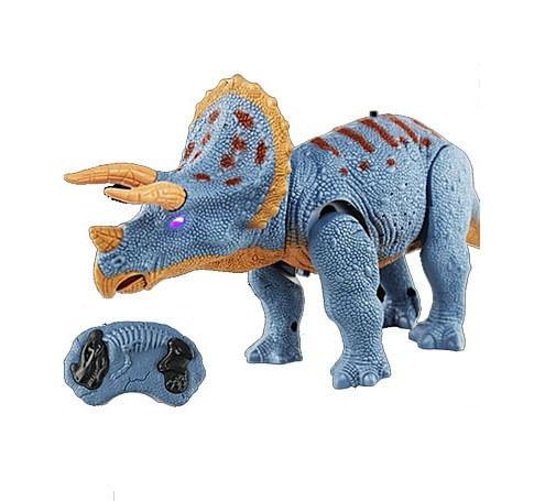 Triceratops a Control Remoto, Dinosaurio con Efectos de Luz y Sonidos, Camina Hacia Adelante, Mueve la Cabeza