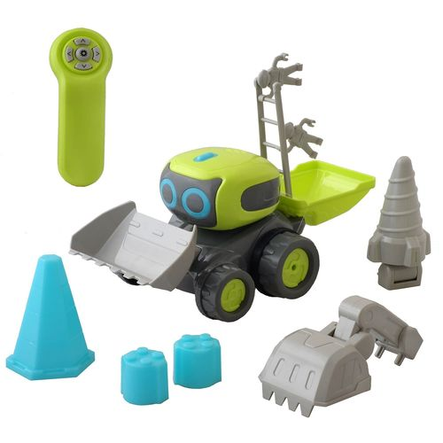 Robot de construcción con pala y taladro