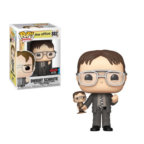 POP TV- The Office - Dwight holding his Bobblehead