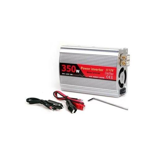Inversor de corriente 350W con ventilador y dispersor de calor, conexión 12V para auto