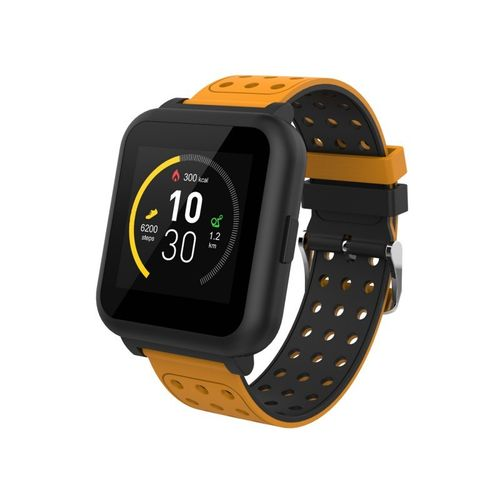 Smart Watch Cuadrado Radioshack Color Verde y Naranja -Sincronízalo con tu smartphone por medio de Bluetooth