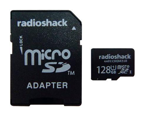 Micro SD con adaptador Radioshack Clase 10 U1 128GB