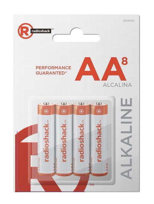 Pilas Alcalinas AA Pack X8 compatibles con la mayoría de artículos electrónicos de uso cotidiano, ideal para relojes, control remotos y otros