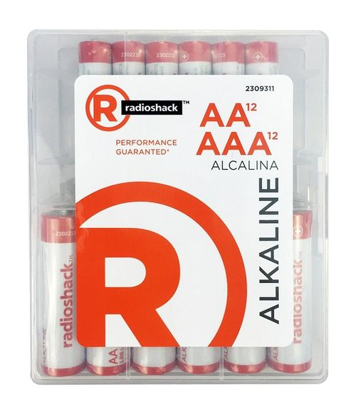 Baterías alcalinas AAA  Pack X12 + Baterías alcalinas AA  Pack X12, larga duración