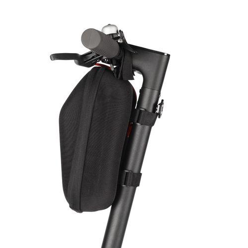 Bolsa universal de almacenamiento para scooter, color negro, capacidad 5L, impermeable, tamaño 300x165x145mm, peso 320 gr, cierre y bolsillos internos