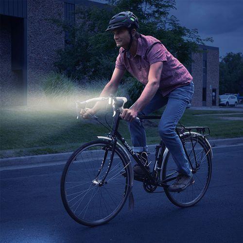Luz recargable Radiant 125 para bicicleta, luz blanca, 3 modos de iluminación, se puede montar horizontal o verticalmente, 180° de visibilidad de luz