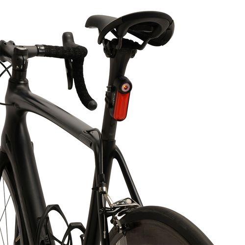 Luz recargable Radiant 125 para bicicleta, luz roja, 3 modos de iluminación, se puede montar horizontal o verticalmente, 180° de visibilidad de la luz