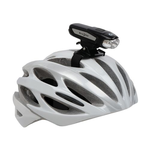 Luz recargable para bicicleta Radiant 750 lúmenes, se puede usar en el manillar o en casco, 180° luz visible, bateria recargable, resistente al clima