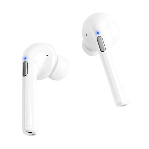Audífonos Bluetooth In ear True Wireless con estuche de carga, almohadillas de silicona, blanco