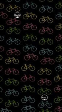 Bandana Raju diseño bicicleta, poliéster, colores