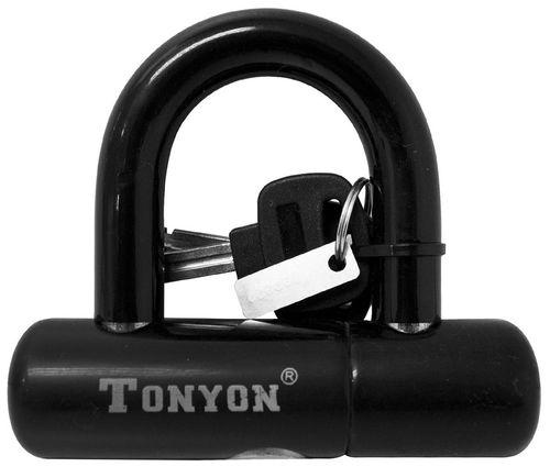Candado de seguridad en U color negro, de acero con 2 llaves incluidas