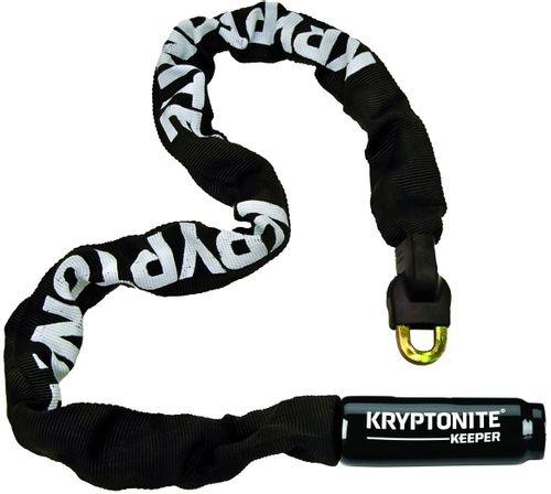 """Cadena de seguridad integrada Keeper 785 32"""" (85CM) color negro, con eslabones cuadrados de 7mm fabricados en acero al manganeso, con 2 llaves tipo I"""