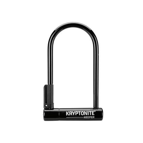 Candado en U con llave color negro, de 12mm de acero endurecido, con 2 llaves de acero inoxidable y soporte de transporte, medidas: 10,2 cm x 20,3 cm