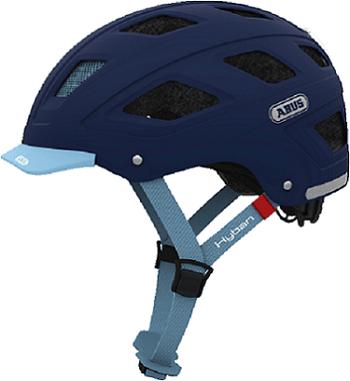 Casco Hyban Core talla M/L color azul, con visera extraíble, luz trasera led, ventilación y acolchado extraíble y lavable, tamaño de cabeza: 56-61 cm