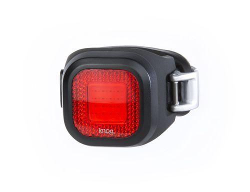 Luz Blinder Mini Chippy Rear Black, luz roja posterior, base negra, recargable vía USB, 11 lúmenes, 3 correas intercambiables, 5 modos, 40 x 29 mm